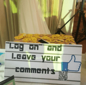 Adaugo and Uche's Nigerian Social Media Themed Wedding Facebook Inspired Guest Book Signage IPC Events LoveWeddingsNG