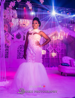Nigerian Bride Reception Dress Toyosi Ilupeju and Wole Makinwa WED Dream Wedding Details Diko Photography LoveWeddingsNG 1