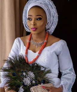 2017 Nigerian Wedding Trends #ASK2017 Peacock Traditional Bridal Hand Fan LoveWeddingsNG