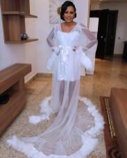 2017 Nigerian Wedding Trends Feather Bridal Robes Tulle LoveWeddingsNG 1