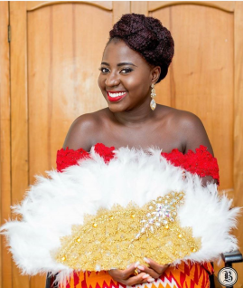 Nigerian Wedding Traditional Bridal Hand Fan Inspiration - Feathered LoveWeddingsNG