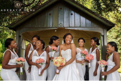 Nigerian Wedding Trends 2017 Bride and Bridesmaids in White Adebayo Deru LoveWeddingsNG