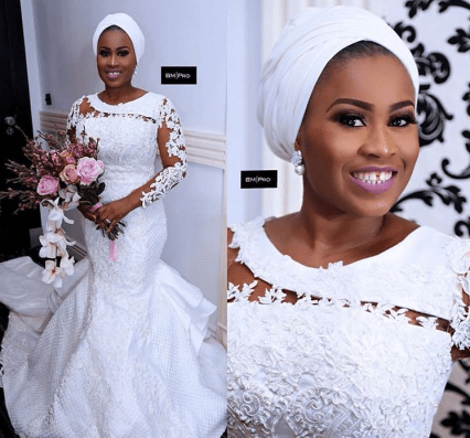 Nigerian Wedding Trends 2017 Illusion sleeved Bridal Gowns #EJI2017 LoveWeddingsNG