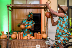 Nigerian Traditional Farm Themed Wedding Host Sumbo and Moses #SMLove17 TrendyBE Events LoveWeddingsNG 4