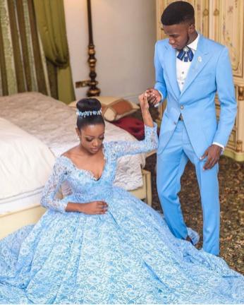 Blue Themed Wedding Look