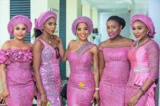 Nigerian Hottest Wedding News Asoebi Colour of the week Pink #ASK2017 LoveWeddingsNG 1