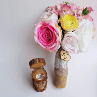 Sade and Jude Rustic Nigerian Wedding Bouquet and Ring Holder LoveWeddingsNG