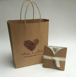 Sade and Jude Rustic Nigerian Wedding Gift Bags and Invitation Cards LoveWeddingsNG