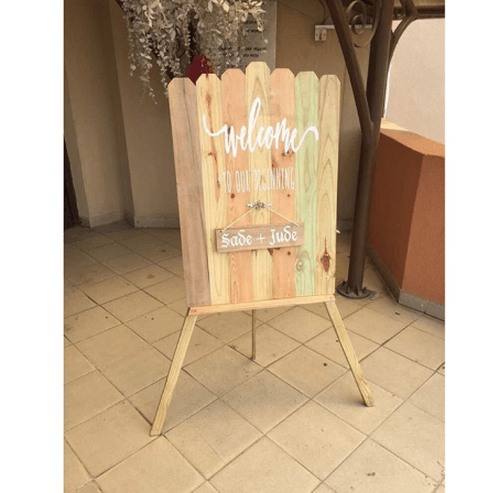 Sade and Jude Rustic Nigerian Wedding Welcome Signage LoveWeddingsNG