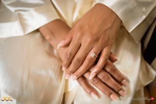 Ghanaian Wedding Bridal Robe and Rings Bema and Cherelle Adjei-Ampofo JOT Photography LoveWeddingsNG