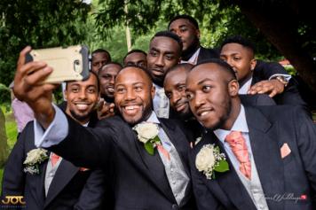 Ghanaian Wedding Groomsmen Selfie Bema and Cherelle Adjei-Ampofo JOT Photography LoveWeddingsNG 1