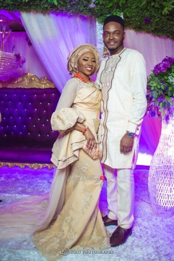 Nigerian Traditional Wedding Couple Portrait Second Outfit Uche and Emeka Diko Photography LoveWeddingsNG