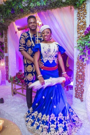 Nigerian Traditional Wedding Couple's Portrait Uche and Emeka Diko Photography LoveWeddingsNG.jpeg 1