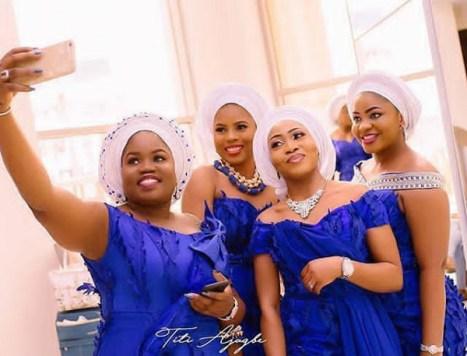 Nigerian Wedding Aso Ebi Colour of the Week Blue LoveWeddingsNG
