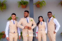 Wendy and Victor's White Wedding Groom, Groomsmen and Best Woman #WWForever HBPixels LoveWeddingsNG