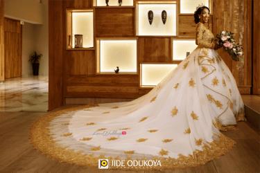 Nigerian Bride in Wedding Gown by April by Kunbi Enchanted Themed Wedding LoveWeddingsNG #ForeverAHMUYours18 1