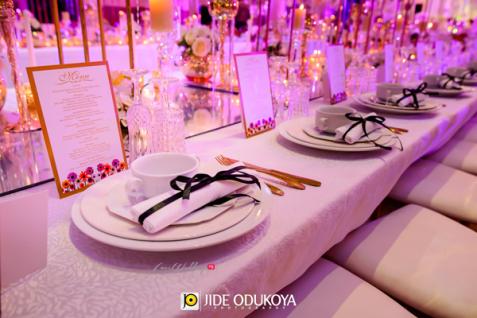 Nigerian Wedding Tablescape LoveWeddingsNG #ForeverAHMUYours18