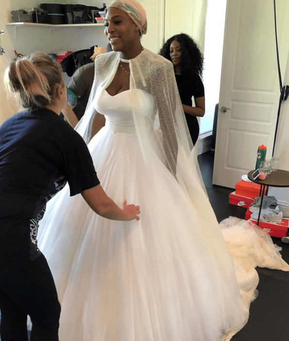 Serena Williams Wedding Dress Fittings