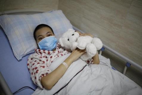 Yang Chunyan marries herself in Wulong People's Hospital in Chongqing, China LoveWeddingsNG 1
