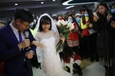 Yang Chunyan marries herself in Wulong People's Hospital in Chongqing, China LoveWeddingsNG
