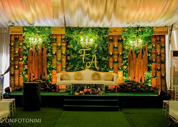 2Folake and Ademola's Traditional Wedding Decor 524 Events LoveWeddingsNG 1