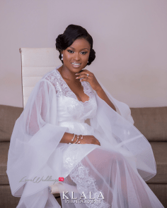 Nigerian Bride in Bridal Robe Folake and Ademola's Wedding #FAB2018 Klala Photography LoveWeddingsNG 1