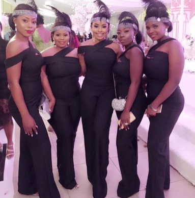 Nigerian Bridesmaids Great Gatsby Themed Wedding #AdaEze2018 LoveWeddingsNG