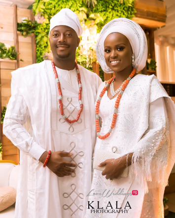 Nigerian Traditional Couple in White Klala Photography LoveWeddingsNG.jpeg