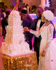 Fatima Aliko Dangote and Jamil Abubakar's #Famil2018 Cutting the Wedding Cake Eko Hotel LoveWeddingsNG 1