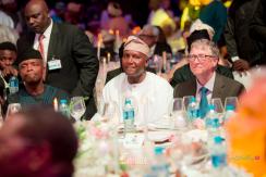 Fatima Aliko Dangote and Jamil Abubakar's #Famil2018 Wedding - Vice President Osinbajo, Aliko Dangote and Bill Gates LoveWeddingsNG