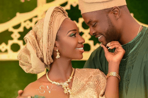 Nigerian Grand Introduction Bride and groom Dogbe and Ibukun Introduction SMVDE LoveWeddingsNG
