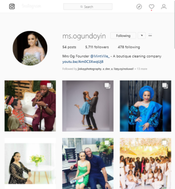 NIgerian Bride Change Instagram Handle LoveWeddingsNG 1