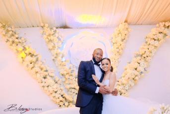 Stephanie and Soji's Nigerian Wedding Couple with MC #OGLoveStory LoveWeddingsNG 3 (2)