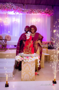 Nigerian Traditional Wedding Tobi and Efe #TheObodos Planned by MoAmber Concepts LoveWeddingsNG - Couple cutting cake
