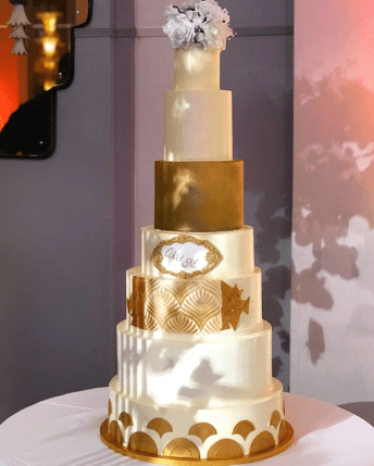 Uloma and Michael's 7 tier Wedding Cake by Paddy Cakes UK #MULove18 LoveWeddingsNG