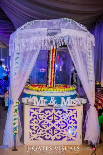 Damilola Ambode and Temi Ojelabi's Nigerian Wedding Fruit Table Fruit Tree #MeetTheAmbodes MoAmber Concepts LoveWeddingsNG107