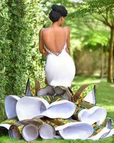 Ghanaian Kente Wedding Dress by Avonsige LoveWeddingsNG 1