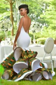 Ghanaian Kente Wedding Dress by Avonsige LoveWeddingsNG 2