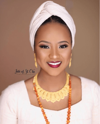 Hauwa Indimi Bridal Makeup Look Jide of St Ola LoveWeddingsNG