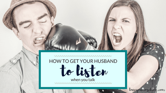 Do you find yourself with a husband who doesn't listen? Read this to find out how to fix it! :)