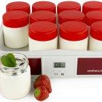 Andrew James Large Red Coloured Digital Yoghurt Maker