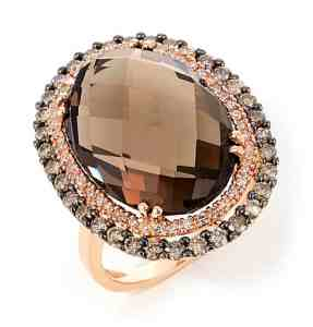 brilliant smoky quartz ring