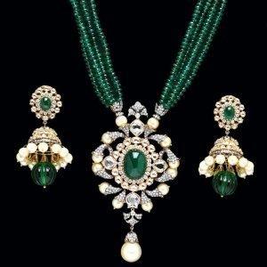 emerald jewellery set