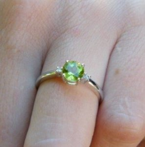 peridot engagement ring