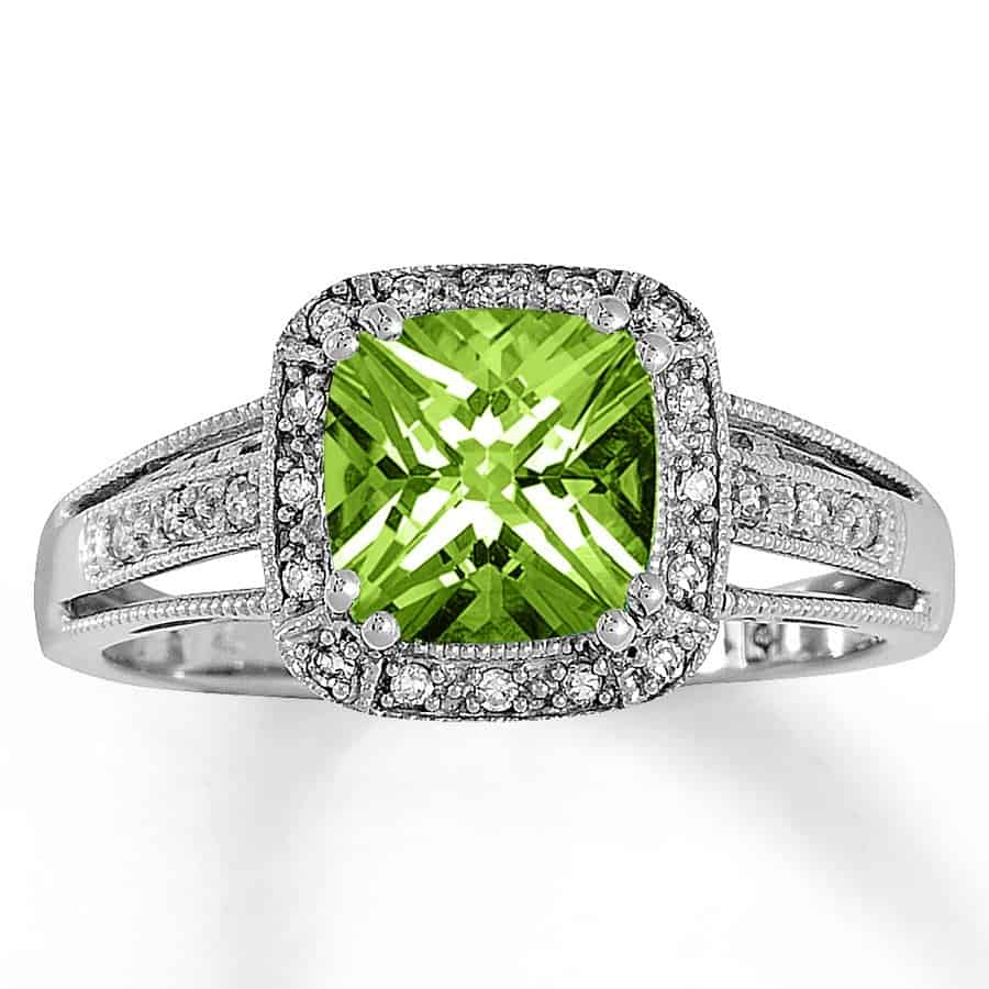 allison peridot ring peridotdiamond diamond b jewelry engagement kaufman rings gold display rich m