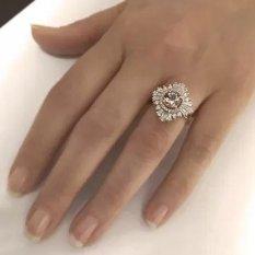 14k Rose Gold Vintage Morganite Engagement Ring Diamond Wedding ring
