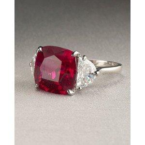 cushion cut ruby ring
