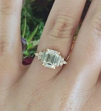 emerald cut engagement ring custom art deco
