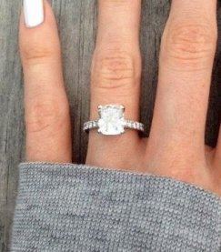 emerald cut diamond engagement wedding ring - Emerald Cut Wedding Rings