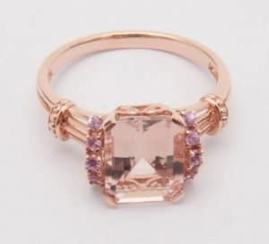 jewelry morganite ring